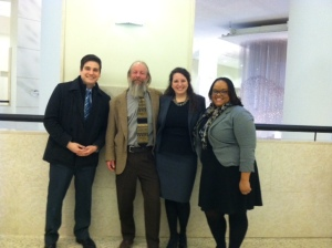 Gatlin Groberg, Jason Huber, Claire Donnelly, and Tierra Ragland, advocates for our COR petitions today.