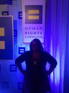 Tierra Ragland at the HRC Gala.