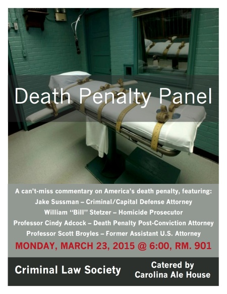 Death Penalty Panel Flyer