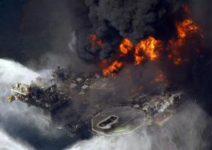 Deepwater Horizon aerial view of the explosion. Photo courtesy of nbcnews.com.